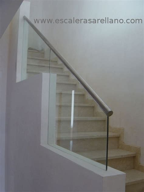 barandilla cristal escalera barandilla de cristal laminado con pasamanos de acero