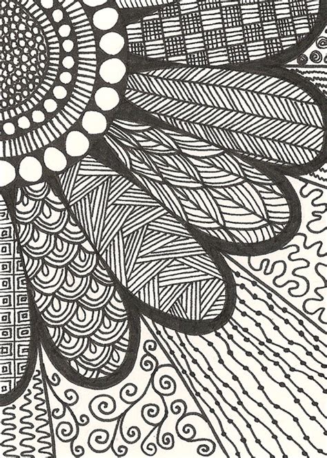 doodle flower simple zentangle on zentangle zentangles and