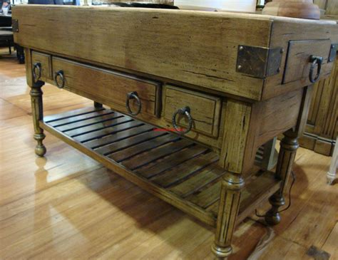 antique butcher block kitchen island distressed large kitchen counter island butcher block antique oak ebay