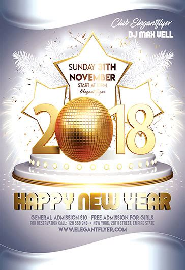 New Year Eve Free Flyer Psd Template By Elegantflyer New Year Flyer Template Free
