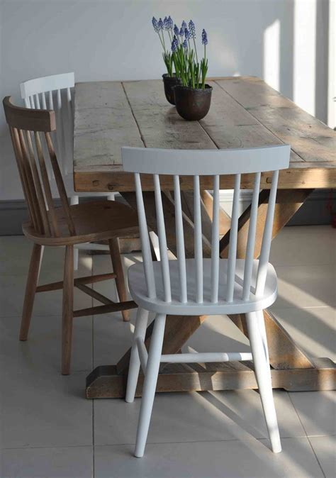 Oak Spindle Back Dining Chairs Oxford Spindle Back Dining Chair White Painted Or Oak