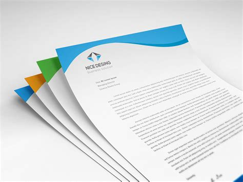 layout ready free corporate letterhead design free download on behance