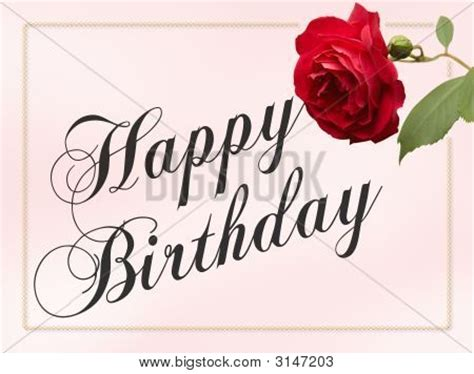 Happy Birthday Cards With Roses Happy Birthday Rose Card Stock Photo Stock Images Bigstock