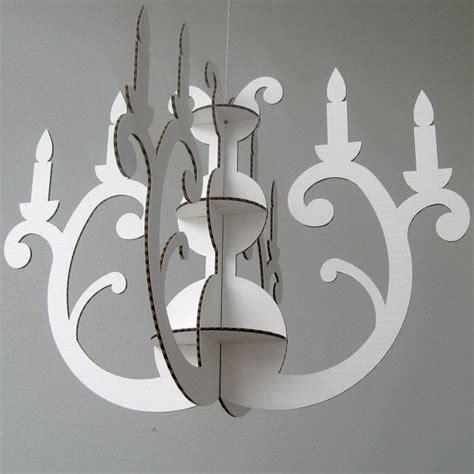 Handmade Paper Chandelier - cardboard joinery chandelier luminaire design eskom