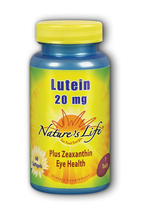 Blueberry Lutein Softgel Wootekh 100 Ori lutein 20 mg 60ct softgel 16 69ea from natures