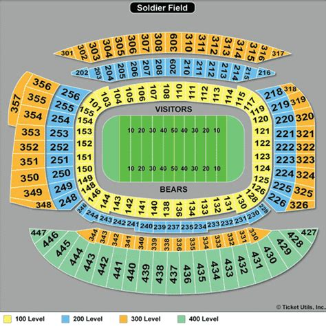 chicago bears stadium seating capacity chicago bears tickets 2018 bears tickets