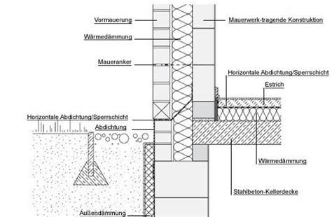 Horizontale Abdichtung Mauerwerk by A Vz Sockel Regeldetail Einbindung Ins Erdreich