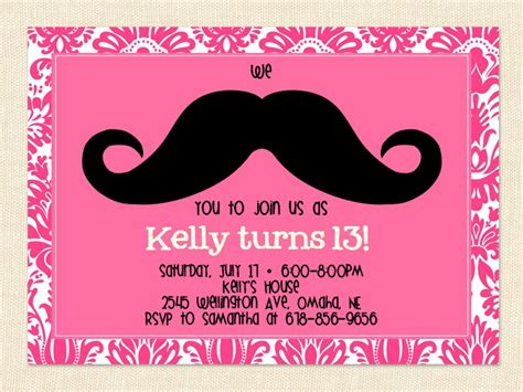13th birthday invitations templates 13th birthday invitation ideas bagvania free