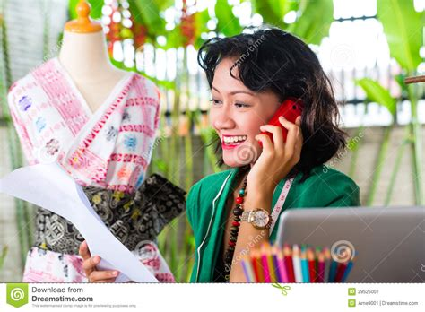 fashion designer working at home royalty free stock