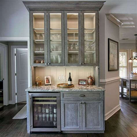 wet kitchen cabinet cerused white oak cabinets wet bar glass cabinet doors