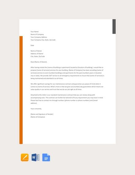 business proposal letter examples    microsoft word apple pages examples