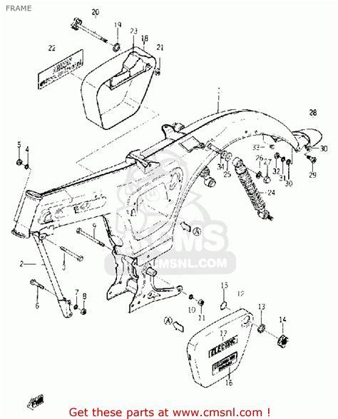 yamaha yl1 1966 1967 frame schematic partsfiche