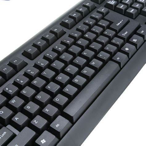 Keyboard Standar black usb keyboard standard 107 key