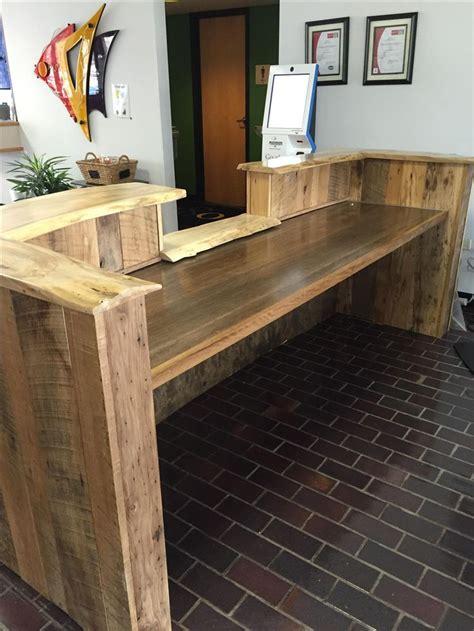 custom  rustic reclaimed wood   edge reception