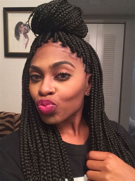 medium box braids hairstyles box braids styling
