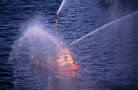 fire boat water cannon free stock photo 5350 fire fighting boat freeimageslive