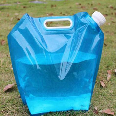 Ember Lipat Foldable Water Foldaway 5l outdoor foldable folding collapsible water bag car water carrier container for