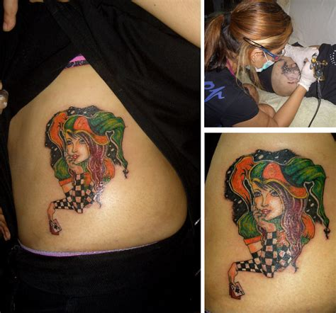 nice girl tattoos jester images designs