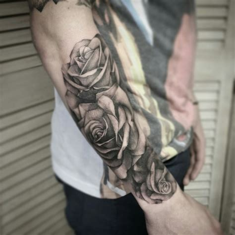 rose tattoo sleeve for men pin by jenn on tatoo and