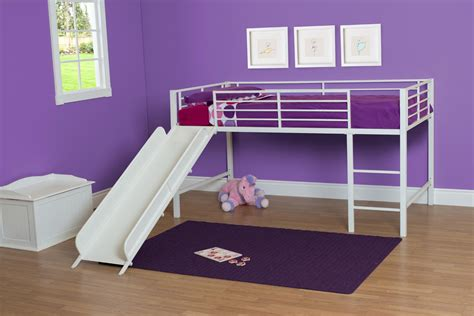 junior loft bed with slide dhp furniture dhp junior loft bed with slide and