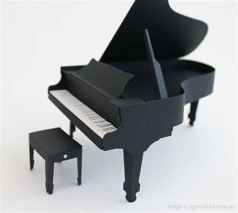 Piano Papercraft - creative ideas for you paper grand piano