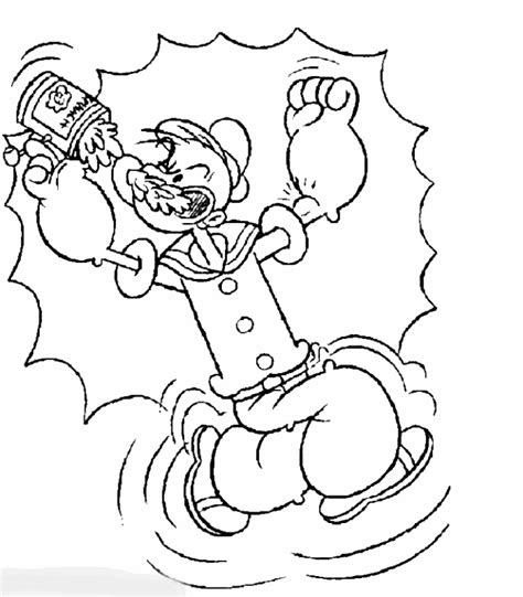 popeye coloring pages free printable pictures coloring