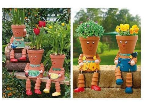 Backyard Football Characters Wonderful Diy Clay Pot Flower People