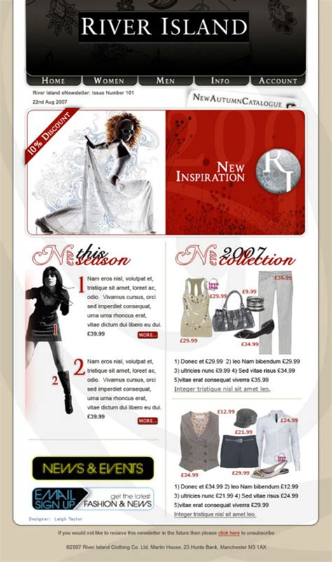 bershka email design www datemailman fashion newsletters email design and 187 river island