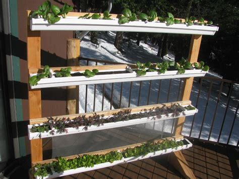 Gutter Vegetable Garden Vertical Gutter Gardens I Could Mount These On The