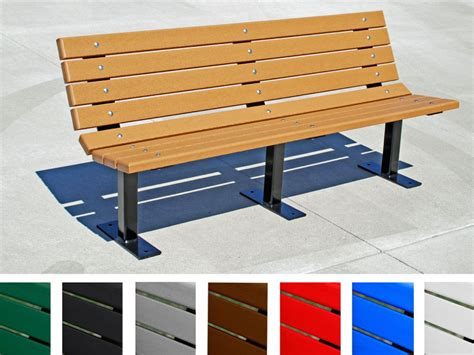 recycled plastic bench contour bench by jayhawk plastics outdoor sitting