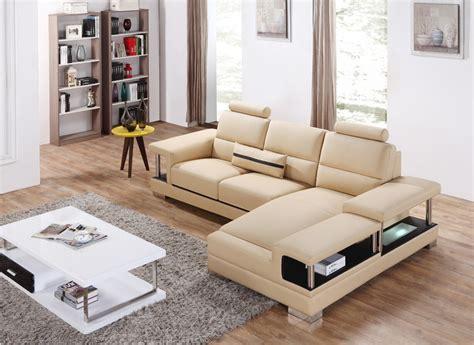 mini divano divani casa t717 mini modern beige sectional sofa