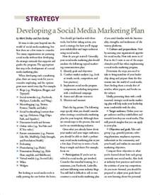 social media marketing business plan template sle social media marketing plan 8 exles in pdf