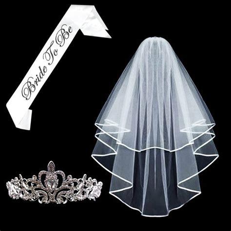 Mahkota Tiara Crown Bridal Shower Small With Veil Without Veil Sc0017 bridal veil to be satin sash tiara crown glasses