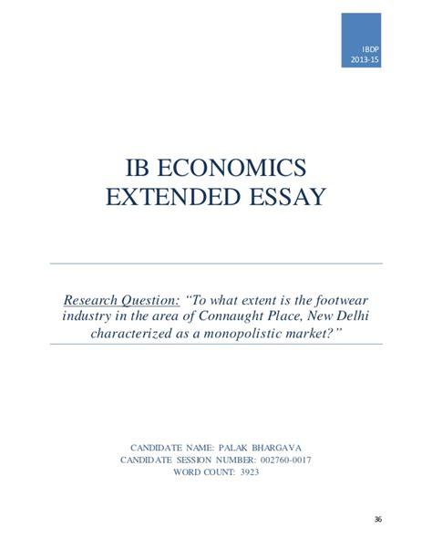 ib economics extended essay sles extended essay draft