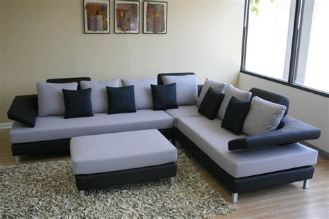 Modern Sofas Sets Black White Sectional Sofa Set Furniture Home Design Ideas