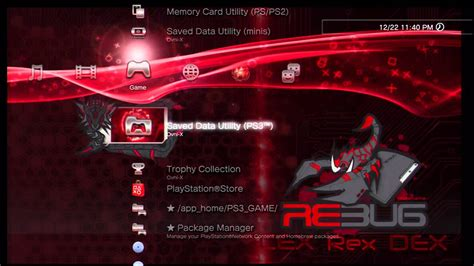 ps3 themes moving background ps3 iris manager 2 93 with animated icon rebug rex theme