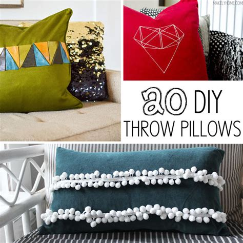 How To Make Accent Pillows by 20 Diy Throw Pillows Makely