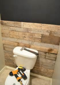 bathroom diy ideas diy tutorial pallet bathroom wall 99 pallets