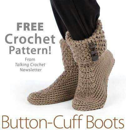 free button boats pattern button cuff boots free pattern crochet pinterest