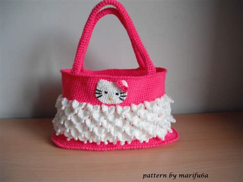bag pattern youtube how to crochet hello kitty bag by marifu6a free pattern