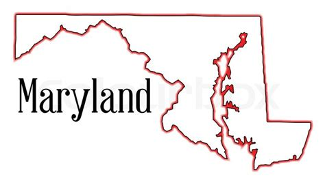 maryland map counties vector outline map of the state of maryland stock vector