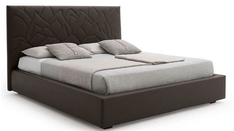 Made in Italy Leather Elite Platform Bed with Extra