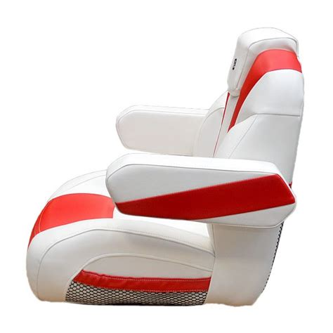 white boat captains chair larson 2015 lx white red reclining boat captains seat