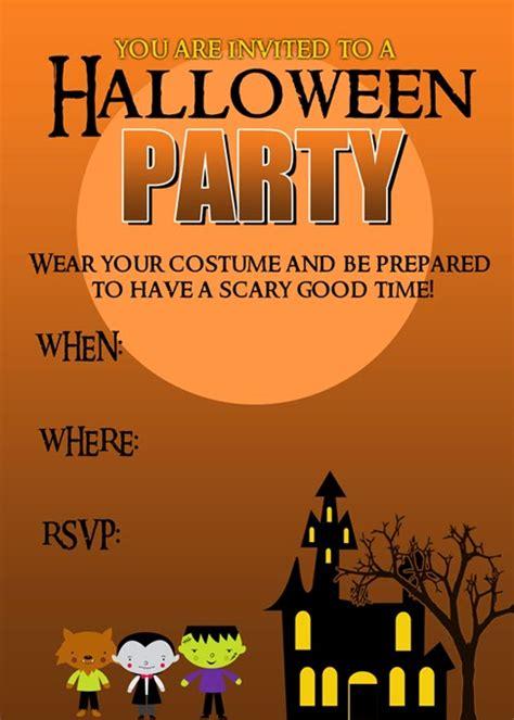printable halloween party invitations halloween party invitation free printable pretty