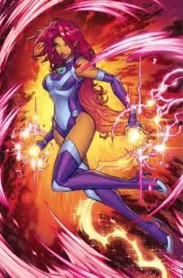 starfire teen titans rebirth costume starfire comic vine