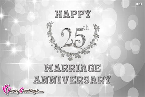 25th Anniversary Wishes Wishes Greetings by Happy 25th Wedding Anniversary Wishes Fancygreetings