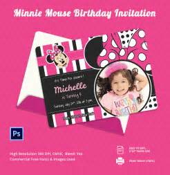 Free Minnie Mouse 1st Birthday Invitations Templates by Awesome Minnie Mouse Invitation Template 27 Free Psd