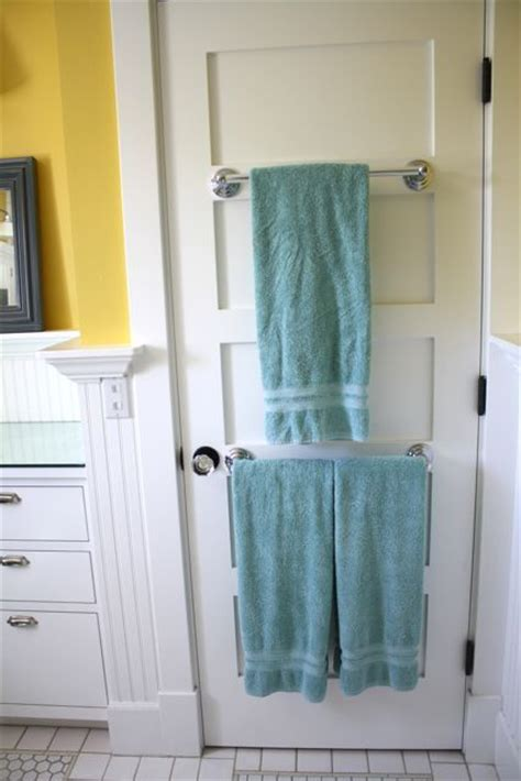 bathroom door towel rack towel racks on the back of the door house design pinterest