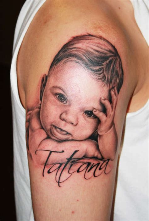 family tattoo gone wrong baby portrait tattoo