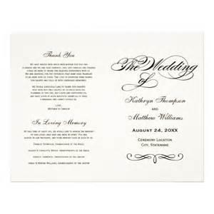 in memory of wedding program wedding ceremony program wording in loving memory wedding invitation sle